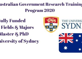 Australian Government Research Training Program 2020