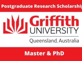 Griffith University International Postgraduate Research Scholarship