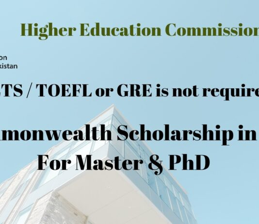 HEC Commonwealth Scholarship 2020