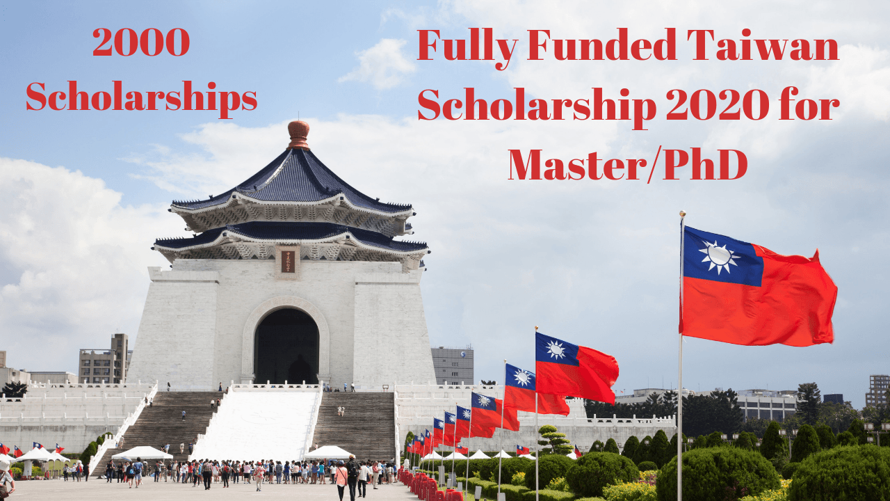 Fully Funded Taiwan Scholarships 2020 Spring For