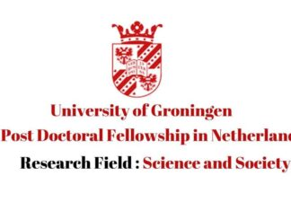 Postdoc Fellowship in University of Groningen