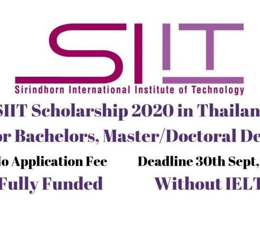 SIIT Scholarship 2020