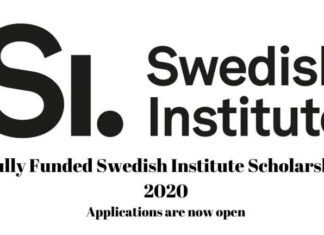 Swedish Institute Scholarship 2020