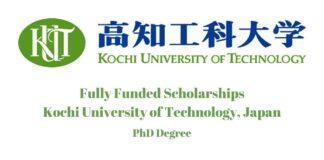 Kochi University of Technology PhD Scholarship