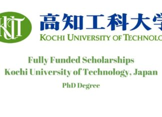 Kochi University of Technology PhD Scholarship