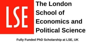 London School of Economics and Political Science PhD Scholarship