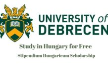 Stipendium Hungaricum Scholarship in University of Debrecen