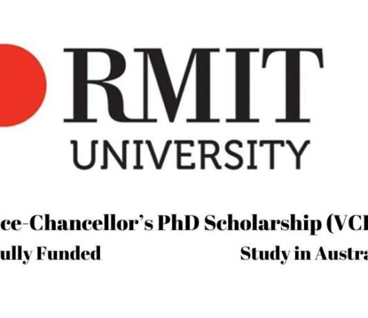 Vice Chancellor PhD Scholarship at RMIT University