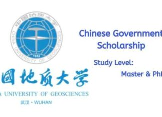 China University of Geosciences Wuhan CSC Scholarship
