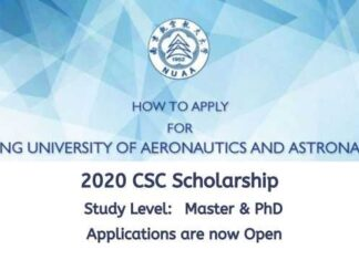 Nanjing University of Aeronautics and Astronautics CSC Scholarship