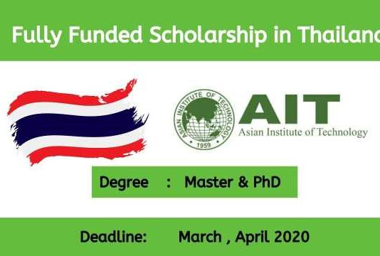 Asian Institute of Technology Scholarship in Thailand