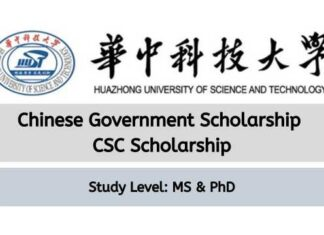 Huazhong University of Science and Technology CSC Scholarship