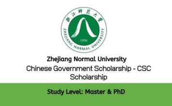 Zhejiang Normal University Chinese Government Scholarship
