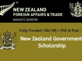 Fully Funded New Zealand Government Scholarship