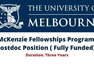McKenzie Fellowships Program Postdoc Position