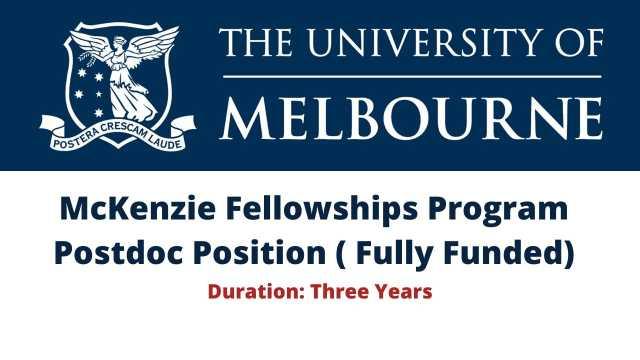 McKenzie Fellowships Program Postdoc Position