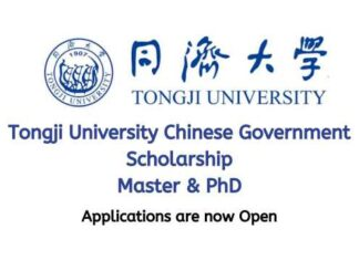 Tongji University Chinese Government Scholarship