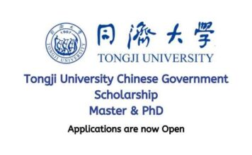 Tongji University Chinese Government Scholarship