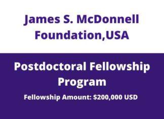 JSMF Postdoctoral Fellowship Awards