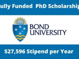 Fully Funded PhD Scholarship at Bond University