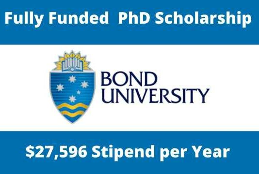 Fully Funded PhD Scholarship at Bond University