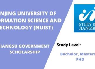 NUIST JIANGSU GOVERNMENT SCHOLARSHIP