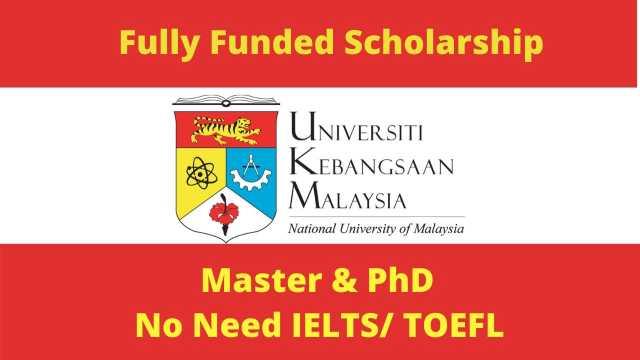 Fully Funded National University Of Malaysia Scholarship 2021