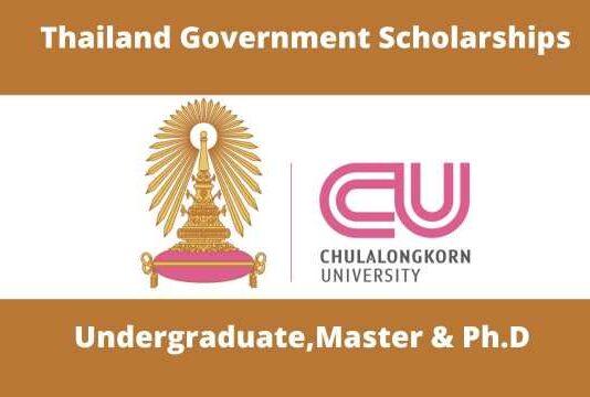 Chulalongkorn University Thailand Government Scholarships